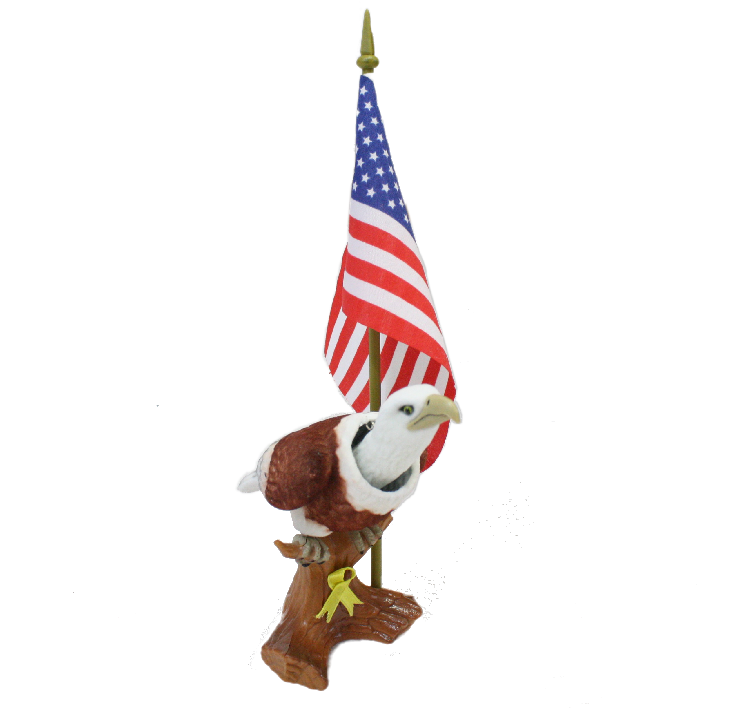Patriotic Bobblehead Eagle With Car Dashboard Adhesive And American