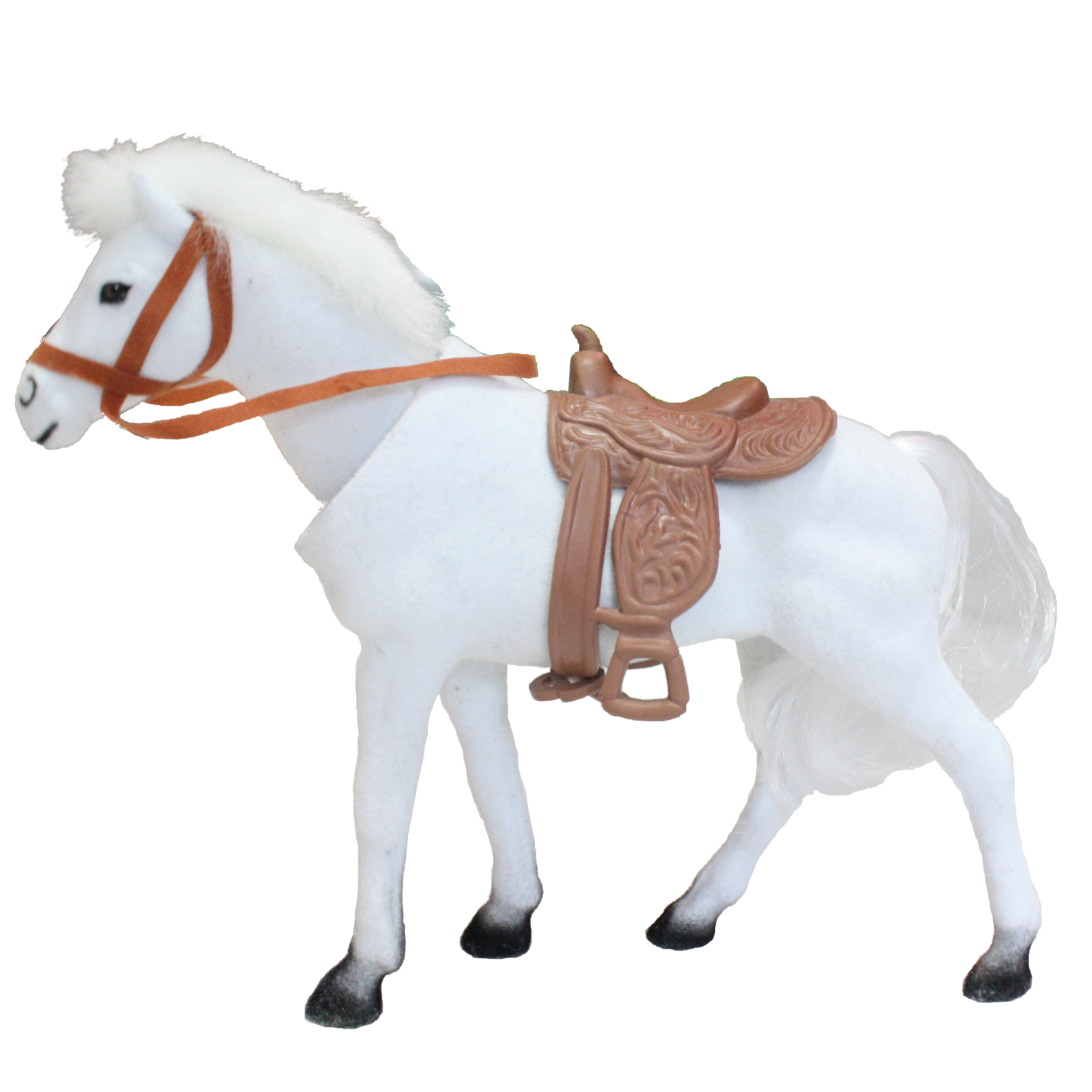 Regal Bobblehead Horse With Auto Dashboard Adhesive White
